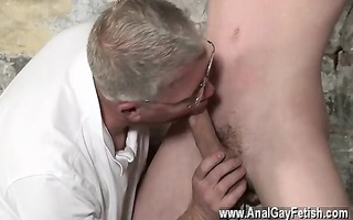 excellent homosexual scene with his fragile nut