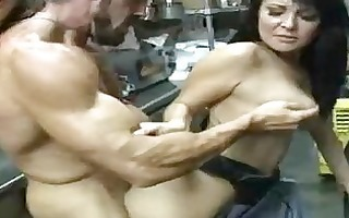 hot darksome haired mother i acquires her shaved