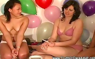 lesbo party getting steamy
