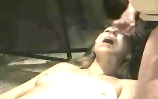 older woman getting a lot of cum in the face