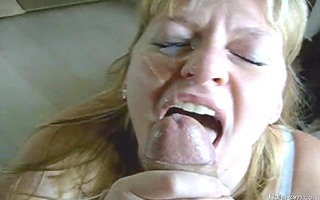 golden-haired wife engulfing weenie and gets
