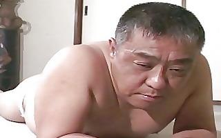 older oriental lad acquires spanking
