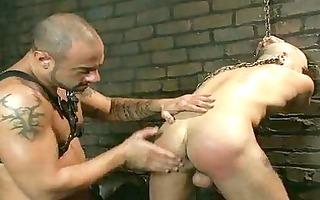 hairless homosexual fellow got his balls tortured