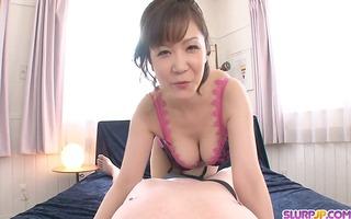 pov oral-stimulation with hot large tit ichika