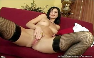 cougar muff pounded and facial
