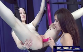 sex swing lesbos and their toys
