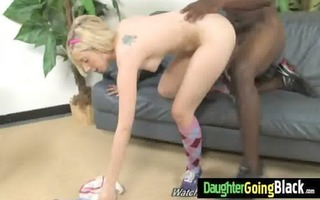 watching my daughter how is drilled by monster