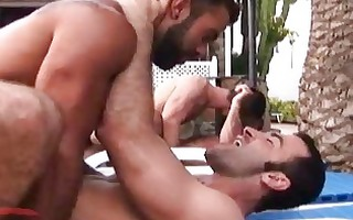 meaty gay dudes having wild group sex outdoors