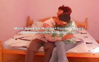 ryssian mama and chap fucking on ottoman