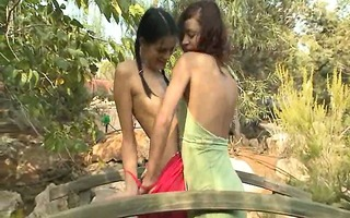 gorgeous beauties licking cunts outdoors