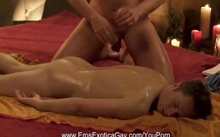 proper oil massage technique for homosexual