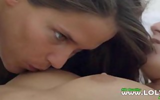 ultra breathtaking lesbian babes in bedroom