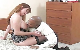 pale bruente milf with darksome nylons acquires