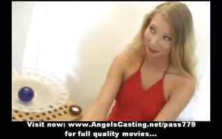 agreeable enjoyable blond wife talking in the