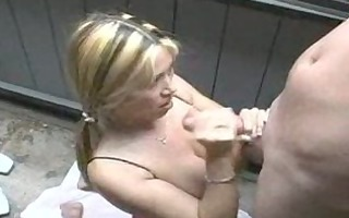 oriental pigtailed gf engulfing it is in the back