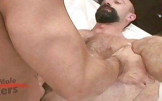 sexy beared older homo fellow gets roughly drilled