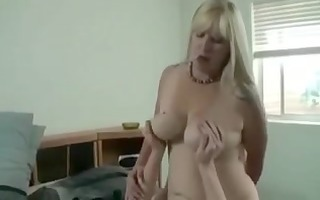 busty blonde mama copulates stepson