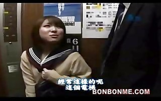 japanese schoolgirl orall-service and screwed by