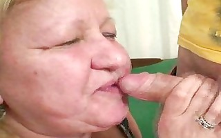 wife busts her stud fucking massive granny