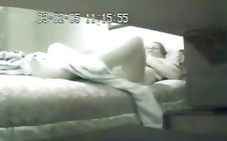 my mom and her dildo. hidden livecam in couch room