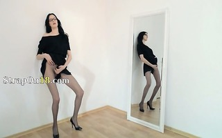 sexy 76yo cutie undress in front of mirorr