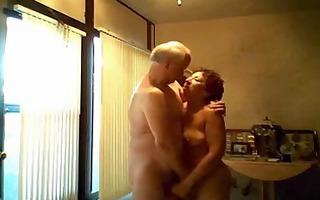 grand-dad masturbating his excited wife