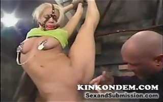 slavery golden-haired acquires rod unfathomable
