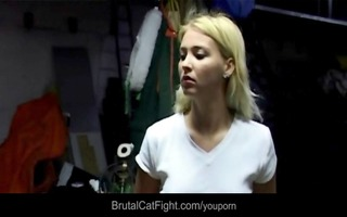 blondes fights at work –the engineer bonks the
