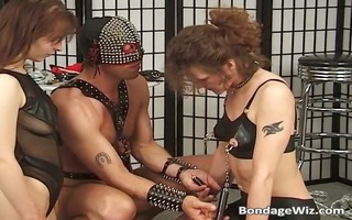 avid servitude play by three-some sexually