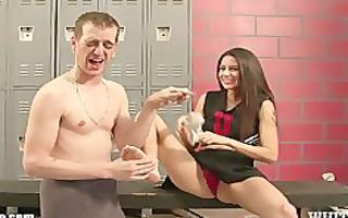 femdom ball busting chearleader punishes boyfriend