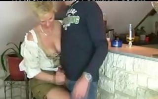 granny woman gets fucked by trio stranger older