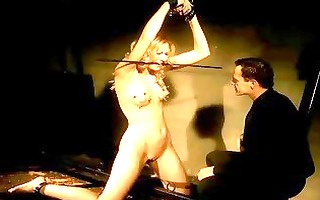 hot blond getting painfully punished