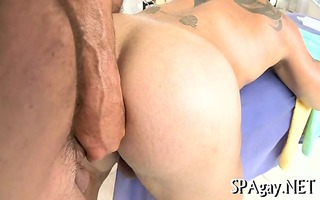 gripping homosexual oral job