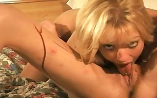 blond lesbian livecam beauty plays with spotty