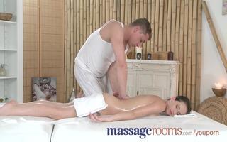 massage rooms juvenile diminutive cutie takes