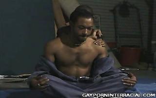 lewd dark homosexual guys teasing