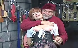 sexy, older redhead receives her pussy toyed