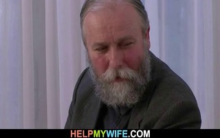 old hubby pays him to fuck his youthful wife