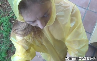 raincoat and pvc fetish with danish dilettante
