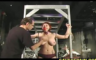 vivien receives her bounded painfully