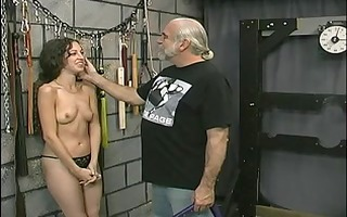 young tattooed bdsm sufferer gal gets her moist