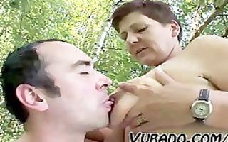 older pair outdoor sex