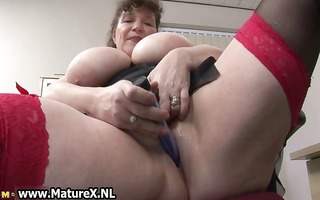 slutty overweight aged lady copulates part5