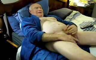 lustful dad cum on bed