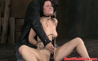 bondage fetish acquires hogtied on the floor