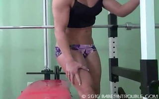 muscle gal tied