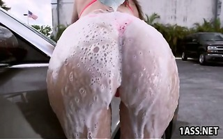 car wash with chunky ass older sara jay