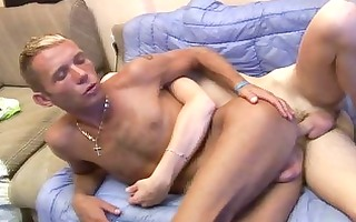 homosexual digging wazoo gap and put threesome cum