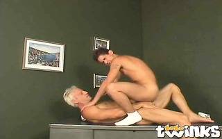 firm bodied twink casper riding anally a massive