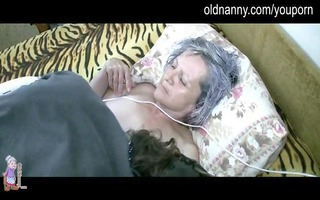 old granny get vagina licked by juvenile chap